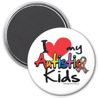 Jag älskar min Autistic ungar Magneter För Kylskåp