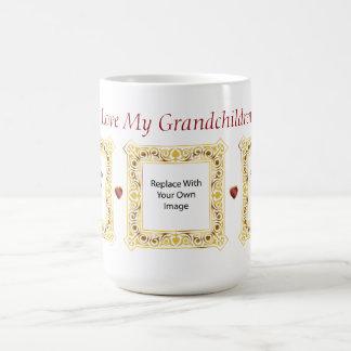 Jag älskar min barnbarn! Cameobildmugg #2 Kaffemugg