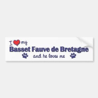 Jag älskar min Basset Fauve de Bretagne (den Male  Bildekal