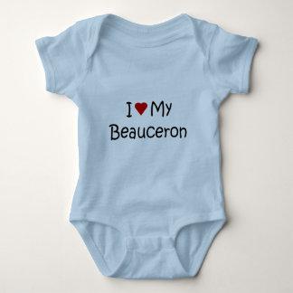 Jag älskar min Beauceron hund älskaregåvor och T-shirt
