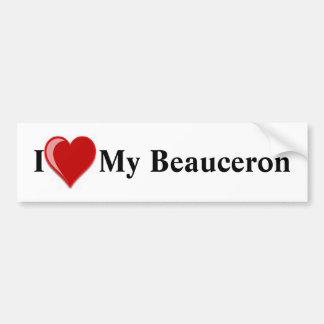 Jag älskar min Beauceron hund Bildekal