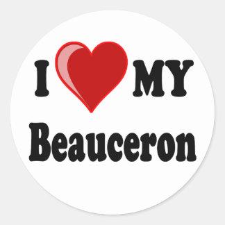 Jag älskar min Beauceron hund Runt Klistermärke