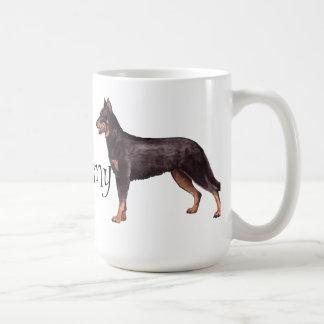 Jag älskar min Beauceron Kaffemugg