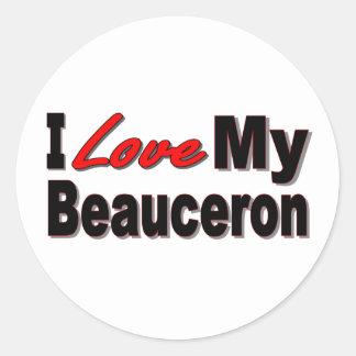 Jag älskar min Beauceron Merchandise Runt Klistermärke