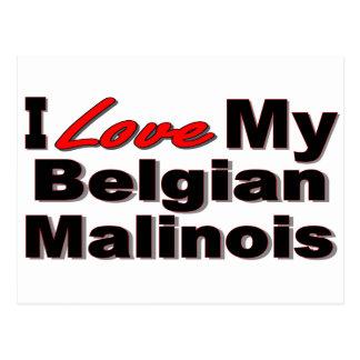 Jag älskar min belgiska Malinois Merchandise Vykort