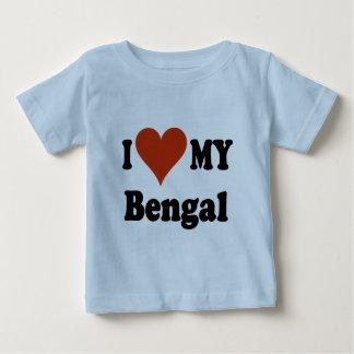 Jag älskar min Bengal kattgåvor och dräkt T Shirts
