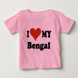 Jag älskar min Bengal kattgåvor och dräkt Tee Shirt