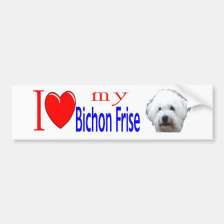 Jag älskar min Bichon Frise Bildekal