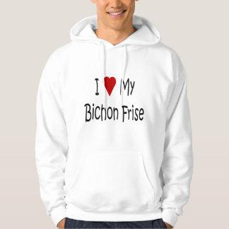 Jag älskar min Bichon Frise hund älskaregåvor Munkjacka