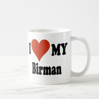 Jag älskar min Birman kattMerchandise Kaffemugg