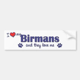 Jag älskar min Birmans (åtskilliga katter) Bildekal