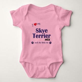 Jag älskar min blandning för den Skye terrieren T-shirt