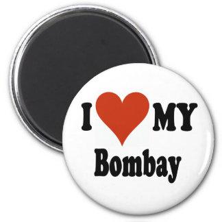 Jag älskar min Bombay kattMerchandise Magnet