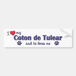 Jag älskar min bomull de Tulear (den Male hunden) Bildekal