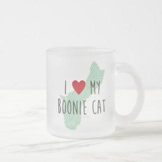 Jag älskar min Boonie kattmugg Frostad Glasmugg