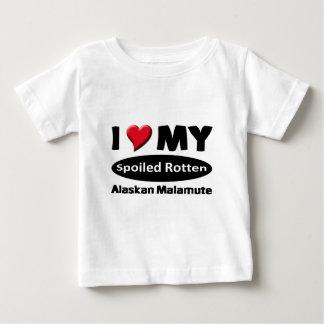 Jag älskar min bortskämda ruttna alaskabo Malamute Tröjor