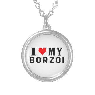 Jag älskar min Borzoi Skräddarsydda Halsband