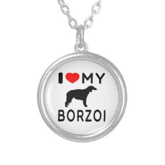 Jag älskar min Borzoi Hängsmycken
