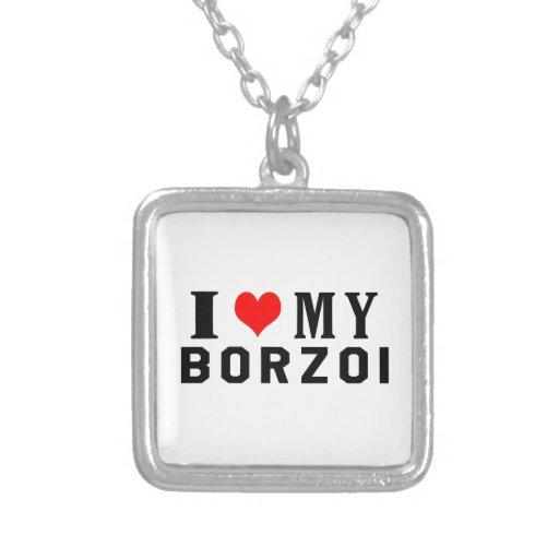 Jag älskar min Borzoi Personliga Halsband