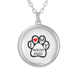 Jag älskar min Borzoihund Skräddarsydda Halsband
