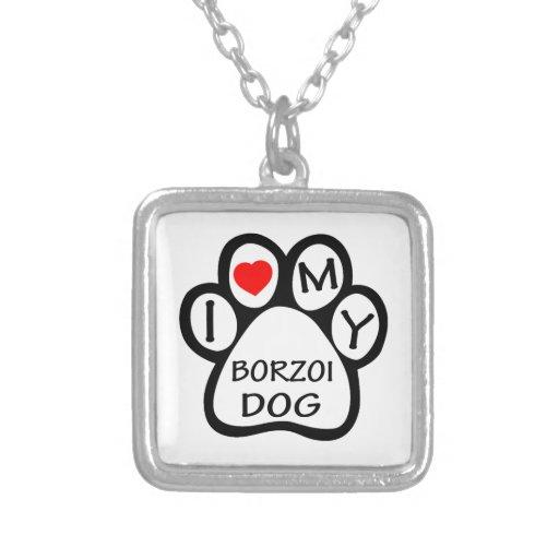 Jag älskar min Borzoihund Hängsmycken