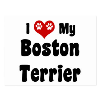 Jag älskar min Boston Terrier Vykort