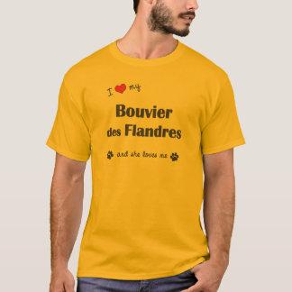Jag älskar min Bouvier des Flandres (den kvinnliga Tee Shirts