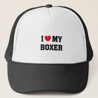 Jag älskar min boxare truckerkeps