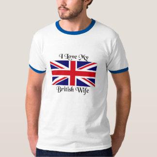 Jag älskar min brittiska fru t-shirt