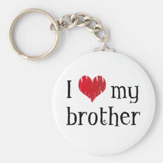 Jag älskar min broder rund nyckelring