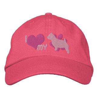 Jag älskar min broderade hatt för den Norwich terr