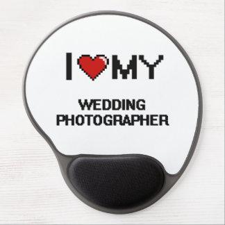 Jag älskar min bröllopfotograf gelé musmatta