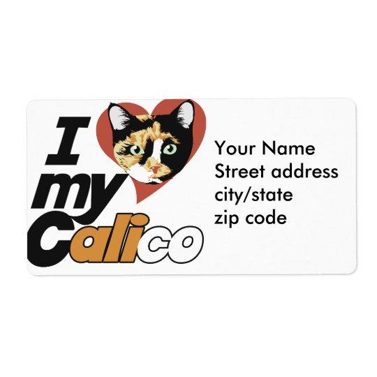 Jag älskar min CALICOkatt Fraktsedel