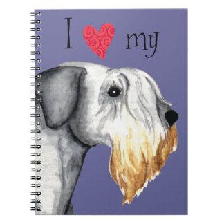 Jag älskar min Cesky Terrier Anteckningsbok Med Spiral