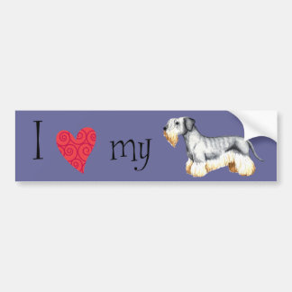 Jag älskar min Cesky Terrier Bildekal