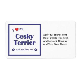 Jag älskar min Cesky Terrier (den kvinnliga Fraktsedel