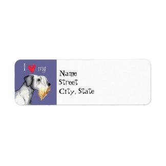 Jag älskar min Cesky Terrier Returadress Etikett