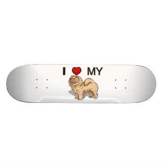 Jag älskar min Chow Skateboard Bräda 20,5 Cm