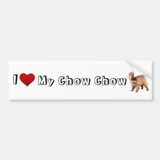 jag älskar min chowchow (2) bildekal