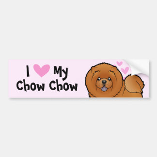 Jag älskar min ChowChow Bildekal