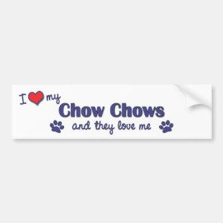 Jag älskar min ChowChows (åtskilliga hundar) Bildekal