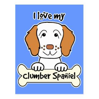 Jag älskar min Clumber Spaniel Vykort