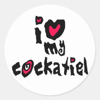 Jag älskar min Cockatiel Runt Klistermärke