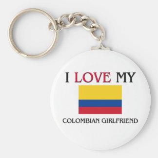 Jag älskar min colombianska flickvän rund nyckelring