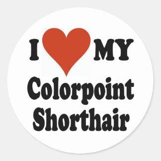Jag älskar min Colorpoint Shorthair Runt Klistermärke