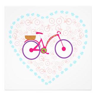 Jag älskar min cykelfotoförstoring fototryck