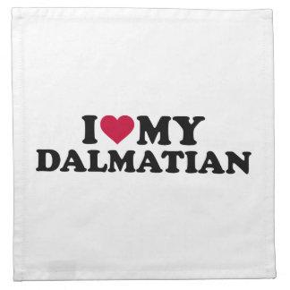 Jag älskar min Dalmatian Tygservett