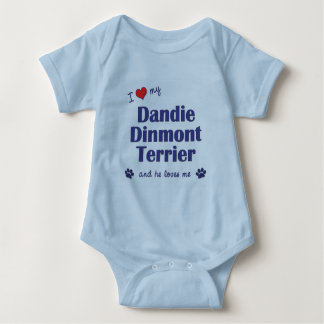 Jag älskar min Dandie Dinmont Terrier (den Male Tee Shirt