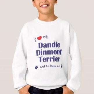 Jag älskar min Dandie Dinmont Terrier (den Male Tröjor