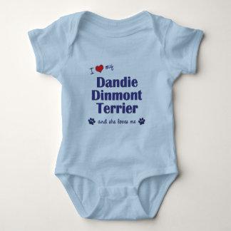Jag älskar min Dandie Dinmont Terrier (den Tshirts